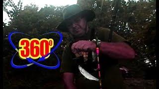 Testowy wędkarski film sferyczny 360 stopni. Kamera Nikon KeyMission 360. 360°