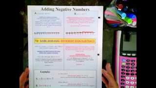 Algebra is Easy Part 1, page 4 and 5 Adding Negative Numbers
