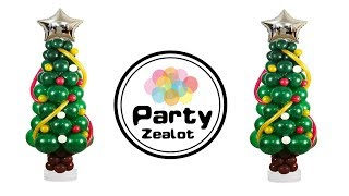 How To Build A Christmas Tree With Balloons By Party Zealot