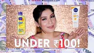 Top 5 Under ₹100 Skincare! | Affordable Beauty In India | Shreya Jain