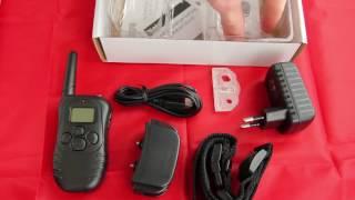 Перезаряжаемый, водонепроницаемый электронный ошейник-(Petrainer 998dr) с ЖК-дисплей-(300 м) от компании Интернет-магазин-Модной дешевой одежды. - видео