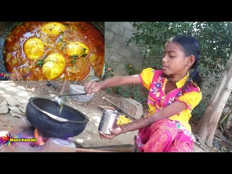 Village Kids Cooking of Egg Curry Yummy Taste