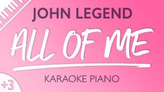 All Of Me (Female Key   Piano Karaoke Instrumental) John Legend