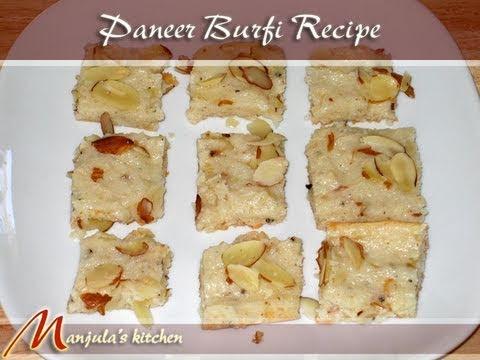 Paneer Burfi Recipe by Manjula
