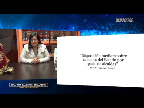 DISPOSICIÓN MEDIATA SOBRE CAUDALES DEL ESTADO POR PARTE DE ALCALDES - Luces Cámara Derecho 129