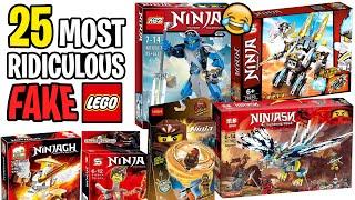 Top 25 Most Ridiculous FAKE LEGO Sets! (Funny Ninjago Knockoffs)