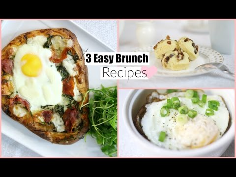 3 Easy & Delicious Brunch Recipes – Breakfast & Lunch Recipes MissLizHeart