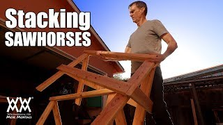 Sturdy Stacking Sawhorses | STEP BY STEP