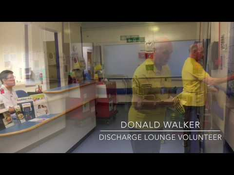 Donald Walker discharge lounge volunteer