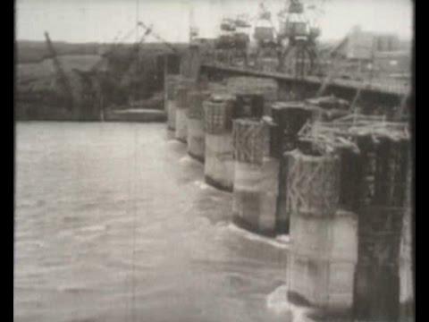 Перекрытие реки Обь при строительстве ГЭ
