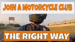 How to Join a Motorcycle Club the Right Way