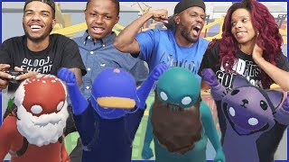 THE MAV3RIQ FAM BACK TO KNOCKING EACH OTHER OUT!! - Gang Beasts Gameplay