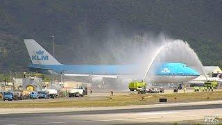 KLM 747 - Final Visit to St. Maarten (SXM) on 10/28/2016