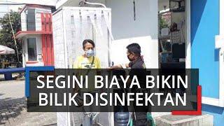 Warga Bikin Bilik Disinfektan Sendiri, Segini Biaya yang Dikeluarkan, Bupati Bogor Barat Ikutan Coba