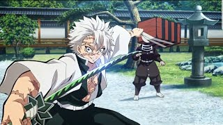 Sanemi Shinazugawa  - (Demon Slayer: Kimetsu no Yaiba) - Demon Slayer: Tanjiro Protects Nezuko from Sanemi | Tanjiro meets Master of the Hashiras