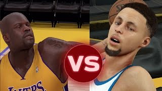 Can Steph Curry Hit A Full court Shot Before Shaq Can Hit A Three Pointer? NBA 2K17