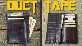 How To Make A DUCT TAPE WALLET // Minimal Card Slim Wallet And A Checkbook Wallet [TUTORIAL]