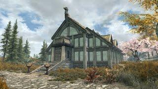 Skyrim PS4 Mods: Eldergleam Sanctuary House (Player Home) - Самые