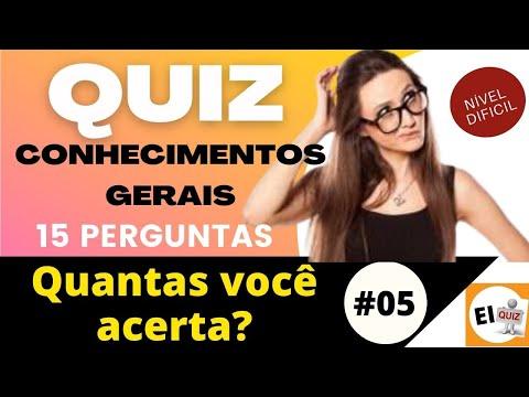 DESAFIO QUIZ DE CONHECIMENTOS GERAIS   NVEL DIFCIL #5