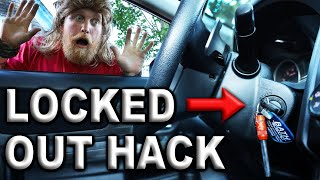 How to Unlock A Car Door With Just A Stick And A Pocket knife #MacGyver (Without a Key!)
