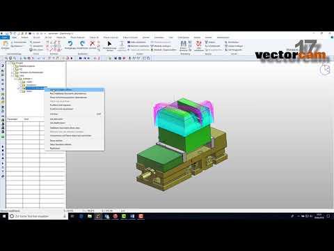 vectorcam-Version 17: 3D Schruppen - Halter-Kollisions-Prüfung