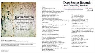 Joseph Anthony Ricciardo - You Know It's Me (Music, Credits and Lyrics)