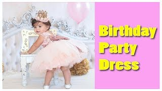 1 Year Birthday Dress For Baby Girl ! Birthday Party Dress For One Year Baby