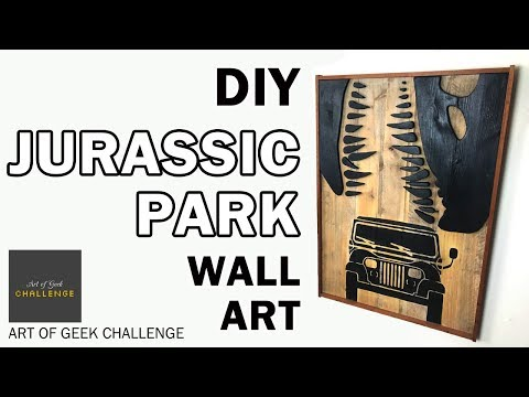 Jurassic Park Wall Art – DIY Pallet Wood Sign