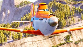 Extinguish The Wildfire Scene - PLANES 2: FIRE & RESCUE (2014) Movie Clip