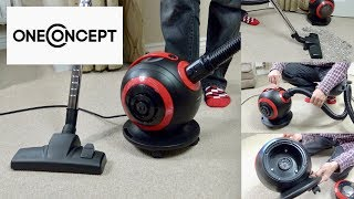 One Concept Pila Bagless Vacuum Cleaner Unboxing & Demonstration