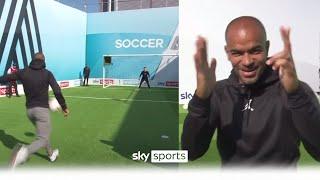 Kieron Dyer hits sweet volley to help Arsenal fans🎯  Soccer AM Pro AM   Kieron Dyer, DJ Spoony & S-X