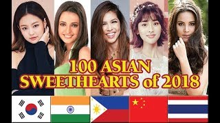 100 ASIAN SWEETHEARTS of 2018