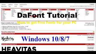 DaFont Tutorial   Windows 10/8/7   How To Get Free Fonts For Your PC!!!
