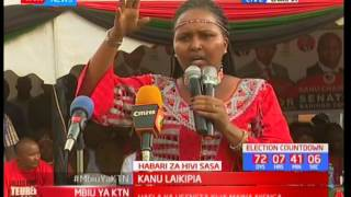 Naisula Lesuuda makes statement in Laikipia during KANU campaigns