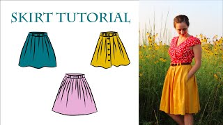 Summer Sewing Tutorial: 3 Simple Linen Skirts