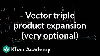 Vector Triple Product Expansion (very optional)