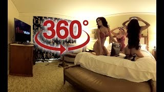 360 video VR Gamer Girls - CJ Sparxx with Pashence Marie & Holy Wolf ( Video for Oculus Go )