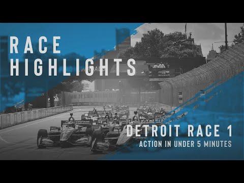 インディーカー第7戦 デトロイト1 決勝レース1ハイライト無料動画