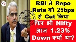 RBI Cuts Repo Rate | Nifty Still Dropped Today | Know Why | Hindi