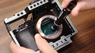How To Clean Camera Lens & Sensor - For SONY ALPHA MIRRORLESS | Momentum Productions
