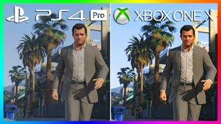 GTA 5 on Xbox One X VS PS4 Pro - Is It Worth The New Console Upgrade? (XBOX ONE X VS PS4 PRO)