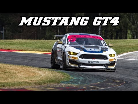 Ford Mustang GT4 - British GT race at Spa 2019