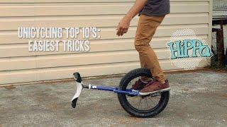 Unicycle Top 10's - Easiest Tricks