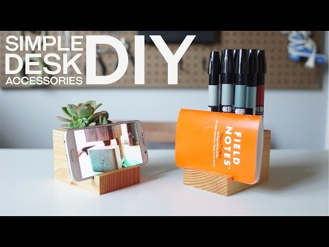 Build Your Own Desk Accessories With Leftover 4×4 Pieces