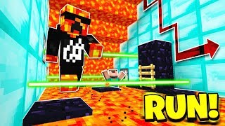 Minecraft 1V1 SUPER CRAZY LAVA RUN! with PrestonPlayz
