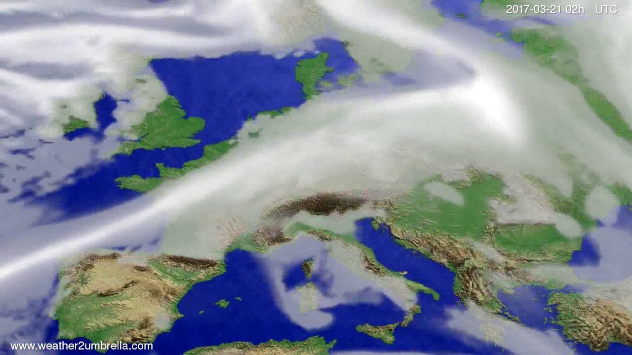 Cloud forecast Europe 2017-03-17