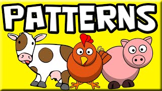 Patterns For Kids | Farm Animals | Patterns For Children | Patterns For Beginners | Learn Patterns