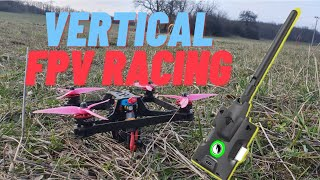 TBS Tracer + Vertical frame FPV racing - 2021 outdoor race training #2
