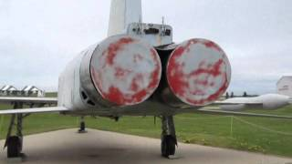 up close with a snowbird and jets at reynolds alberta museum.....wmv