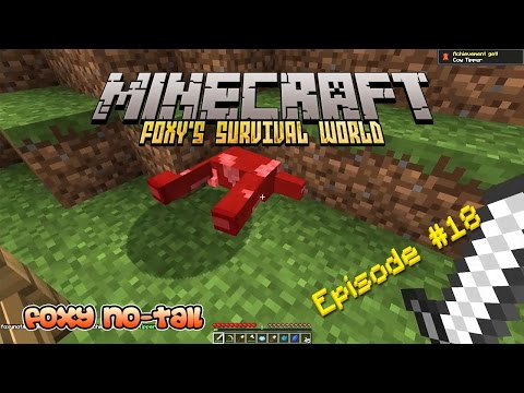 Minecraft Survival - How to get Leather from Cows [18]